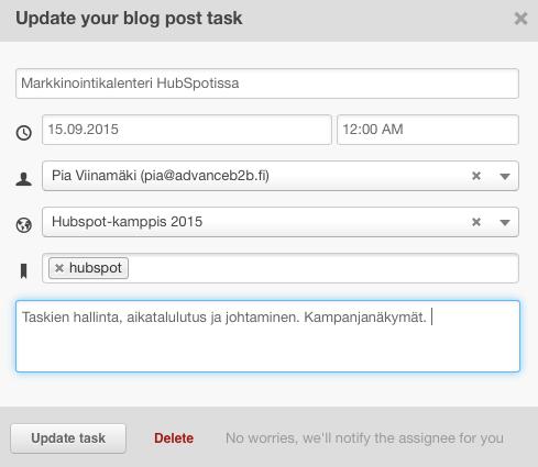 update blog task