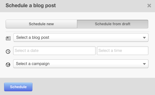 schedule a blog post